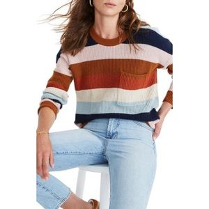 NWT Madewell Thompson Pocket Pullover Sweater